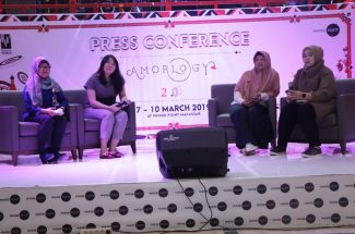 press conference Amorlogy 2.0 di Atrium Tokyo, Phinisi Point, Rabu (6/3/2019).
