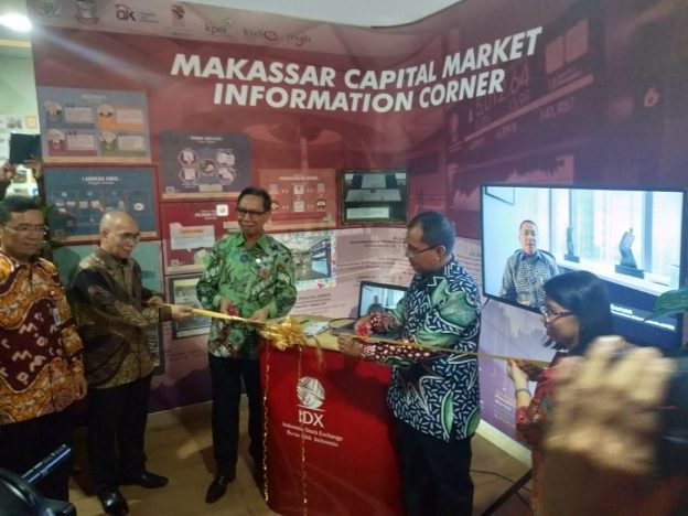OJK menghelat event OJK Goes To Campus dan Edu Expo di Universitas Muhammadiyah Makassar, Kamis (28/03/19).