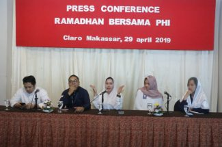 Press Conference 'Ramadhan Bersama PHI' di Executive Lounge Claro Makassar, Senin 29 April 2019.