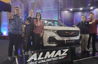Selama GIIAS Makassar 2019 berlangsung, Wuling menampilkan total tiga unit display yang terdiri dari Smart Technology SUV, Almaz, Cortez CT 'The New Advanced MPV'. (Foto.djournalist)