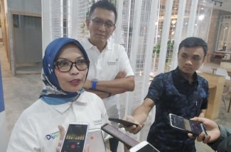 Senior Manager Corporate Communications Lintasarta Suci Andrini, usai pelaksanaan Lintasarta Digischool di Bikin-Bikin Nipah Mall. (Foto:djournalist)