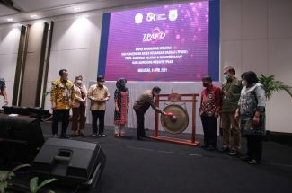 Launching Website TPAKD, di Hotel Claro Makassar, Jumat, 9 April 2021.(foto:ist)